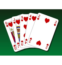 Poker hand - Flush vector image