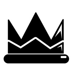 prince crown icon simple black style vector image vector image