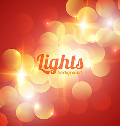 Red Bokeh Abstract Light Background vector image