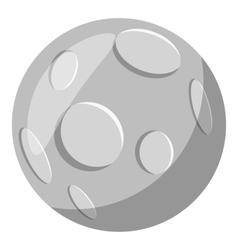 Full moon icon gray monochrome style vector image
