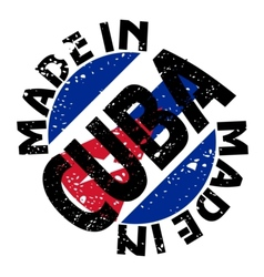 Made in cuba vector