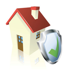 secure house concept vector image