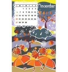 calendar november vector image