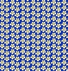 Pattern of small white flowers vector