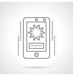 Mobile video flat line icon vector