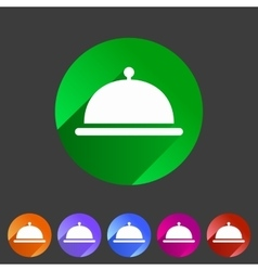 Food platter dish meal icon web sign symbol logo vector image