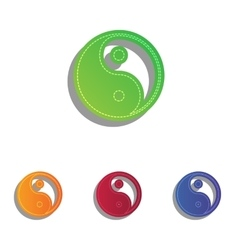 Ying yang symbol of harmony and balance colorfull vector
