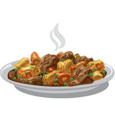 beef stew meat vector image
