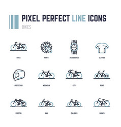 bike icons vector image vector image