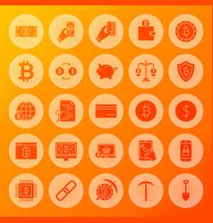 bitcoin solid circle icons vector image