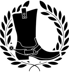 boot with spurs stencil vector image