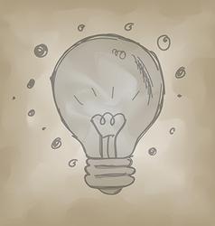 Bulb symbol sketch creative idea concept vector