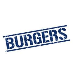 Burgers stamp vector