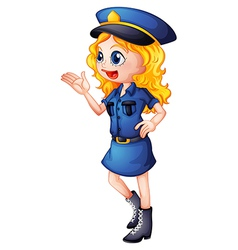Cartoon policewoman vector