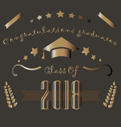 class of 2018 graduation theme vector image vector image