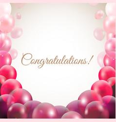 Congratulations card with balloons vector