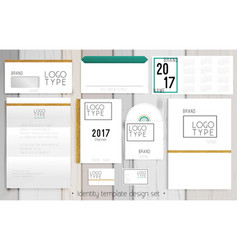 corporate identity template design set vector image
