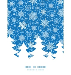 Falling snowflakes christmas tree silhouette vector