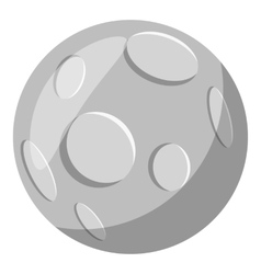 Full moon icon gray monochrome style vector