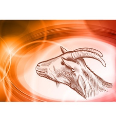 Goat modern vector