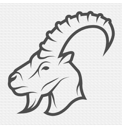Goat symbol logo emblem vector image vector image