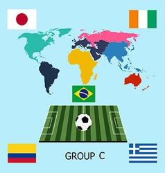 Group c - colombia greece ivory coast japan vector