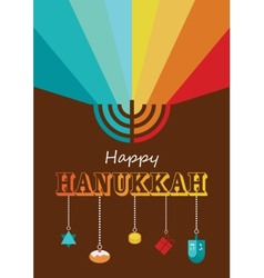 hanukkah infographics vector image vector image