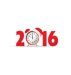 happy new year 2016 clock vector image vector image
