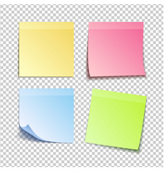 Isolated colorfull sticky notes vector