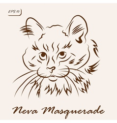 Neva masquerade cat vector
