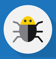 Of safety symbol on bug flat vector