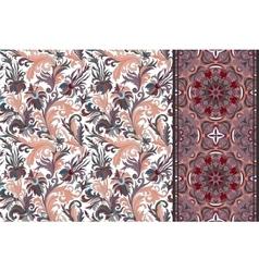 Seamless floral patterns set vintage flowers vector