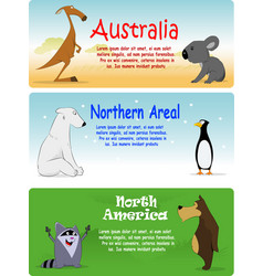Set of animals from the world vector