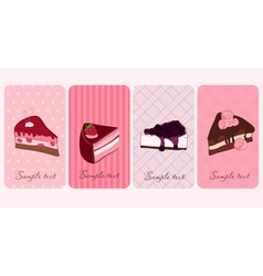 set of banners with sweet cakes vector image vector image