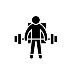 strong athlete - lifting weights icon vector image vector image