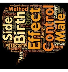 Know the Side Effects of Vasectomy Male Birth vector image