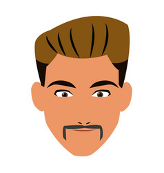 face man adult business avatar vector image