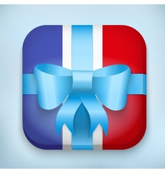 Design france gift icon for web and mobile vector