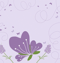 Abstract springtime purple vector