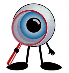 detective eye vector image