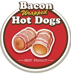 Bacon and sausage vector