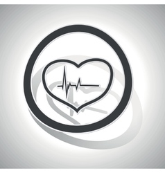 Curved cardiology sign icon vector