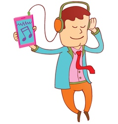 Enjoy smartphone music vector