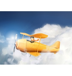 Aircraft in the clouds vector