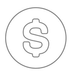 Dollar symbol line icon vector image