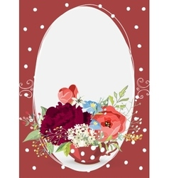 Romantic bouquet on vintage background vector