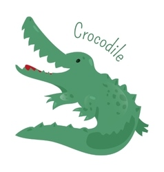Crocodile isolated sticker for kids child fun vector