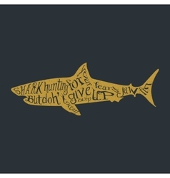 Typography lettering shark vector