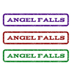 Angel falls watermark stamp vector