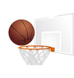 basketball and basket vector image